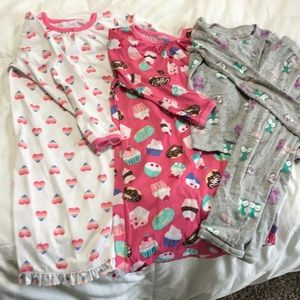 PJ Bundle- 2 night gowns and 1 PJ pant outfit